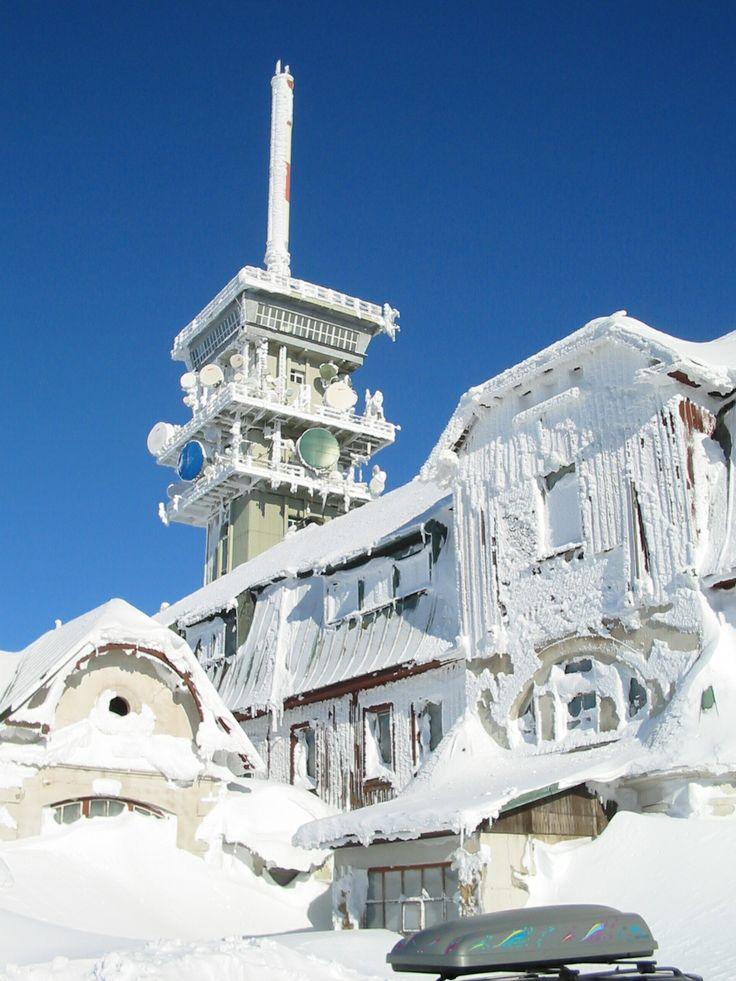 Winter - Klínovec 1244 m, Krušné hory, Czech republic