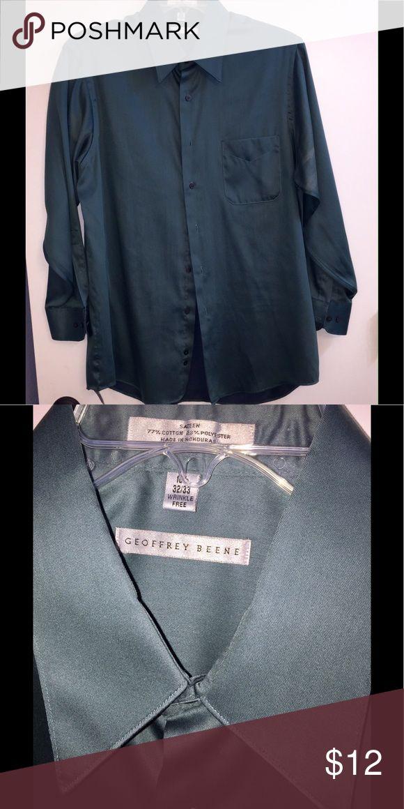 "MENS Geoffrey Beene Sateen Long-Sleeve Shirt MENS Geoffrey Beene Sateen Long-Sleeve Shirt 16 1/2"" Neck. Freshly Dry-Cleaned & Gently Used. Geoffrey Beene Shirts Dress Shirts"