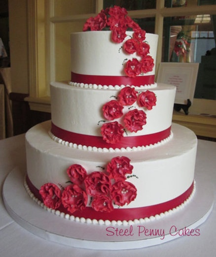 wedding cakes in red ribbon 50 best images about our vintage wedding on 24756