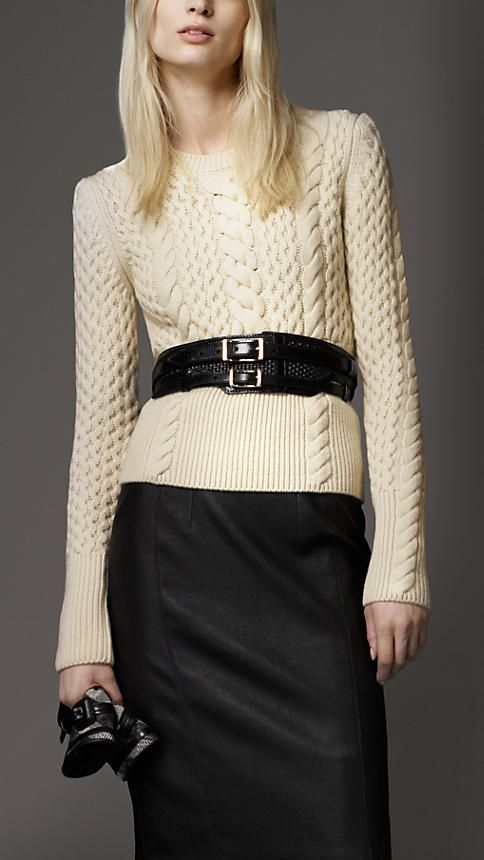 Burberry - Wool Cashmere Cable Knit Sweater