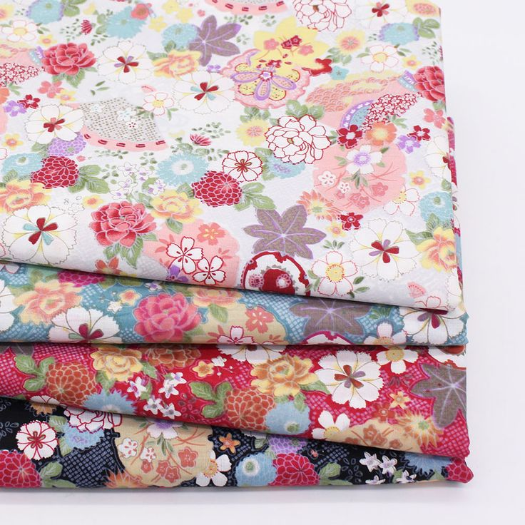 Cheap printed cotton fabric, Buy Quality japanese fabric directly from China cotton fabric Suppliers: Floral Print Cotton Fabric Home Sewing Fabrics Patchwork Cotton Tissue Home Textile Woven Telas Tecido Japanese Fabric