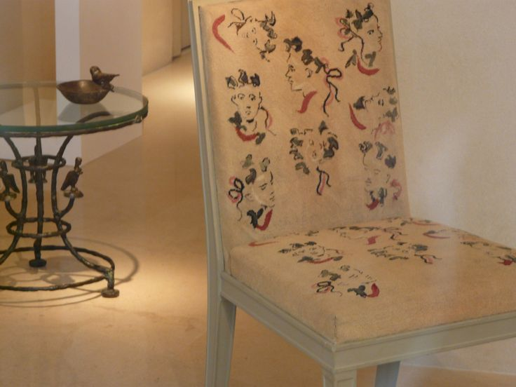 Jean Michel Frank Side Chair With Needlepoint Upholstery