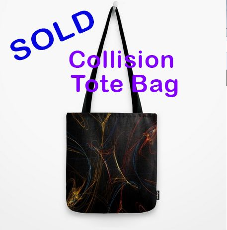 SOLD! Colision Tote Bag by Scar Design. Many Thanks to the buyer!! #totebag #space #spacetotebag #spacegifts #fractal #gifts #society6 #scardesign #giftsforher #style #rockstyle #womensfashion #coolgifts #onlineshopping #buytotebags #scifi