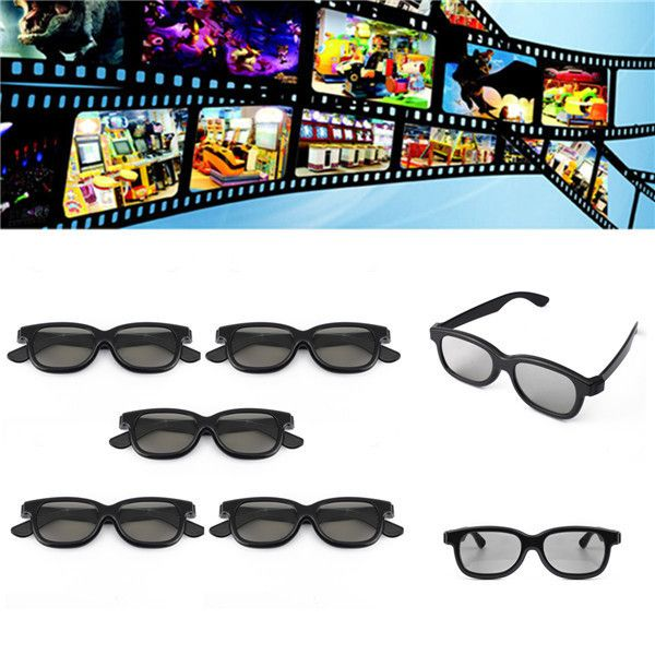3d Glasses For Panasonic Lg Sony Samsung 3d Tvs Monitor 3d Film Movie 5 Pcs Passive Polari. 5 Pcs Passive Polarized 3D Glasses For Panasonic LG Sony Samsung 3D TVs Monitor 3D Film Movie  Features:  Compatible with a wide range of passive 3D TVs, these glasses make watching 3D TV easy, whether it's sport, a documentary or the latest 3D film It brings you the power of spectacular, cinema quality 3D images in the comfort of your own home With five in a pack, you can share great entertainment…
