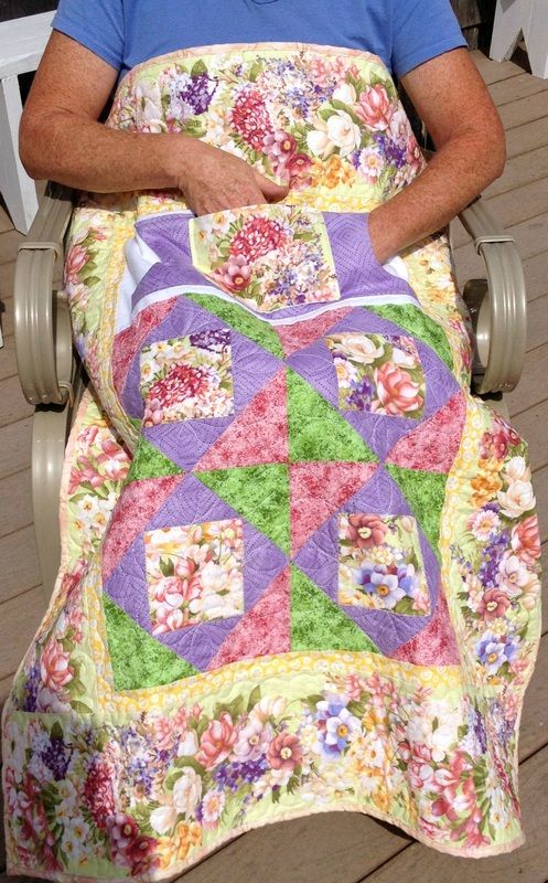 Find Handmade Wheelchair Lap Quilts From Carolyn S