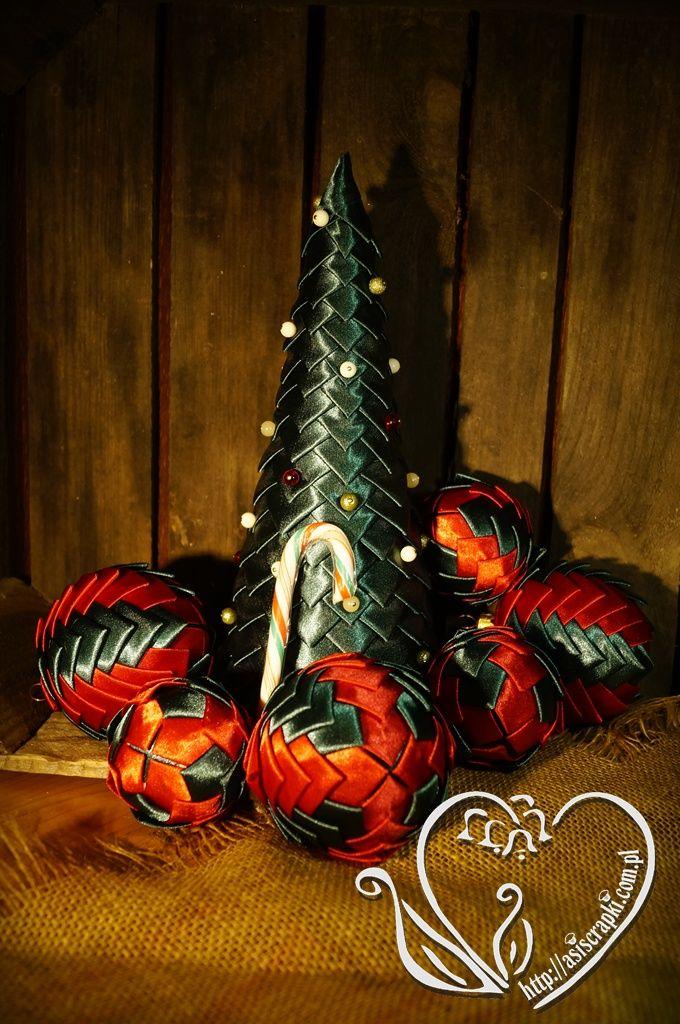 Świąteczne dekoracje ze wstążki #asiscrapki