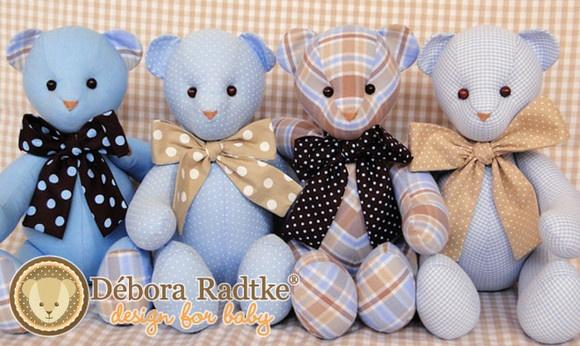 Ursos Peti petá  para decoração - azul