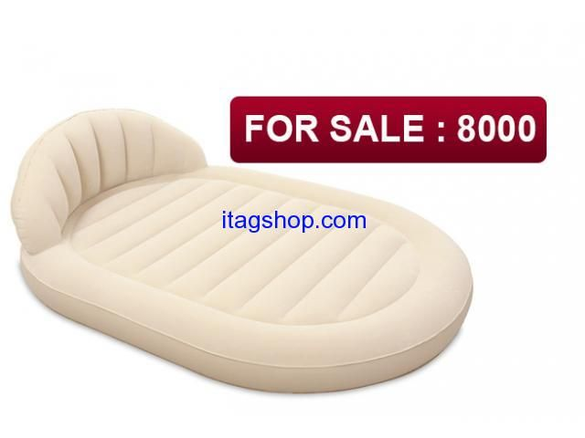 """New! We represent you the new model """"BestWay"""" inflatable bed Royal Round Air Bed 67397  Inflatable double bed design with backrest with headrest. In-house construction system beds with vertical support partitions."""
