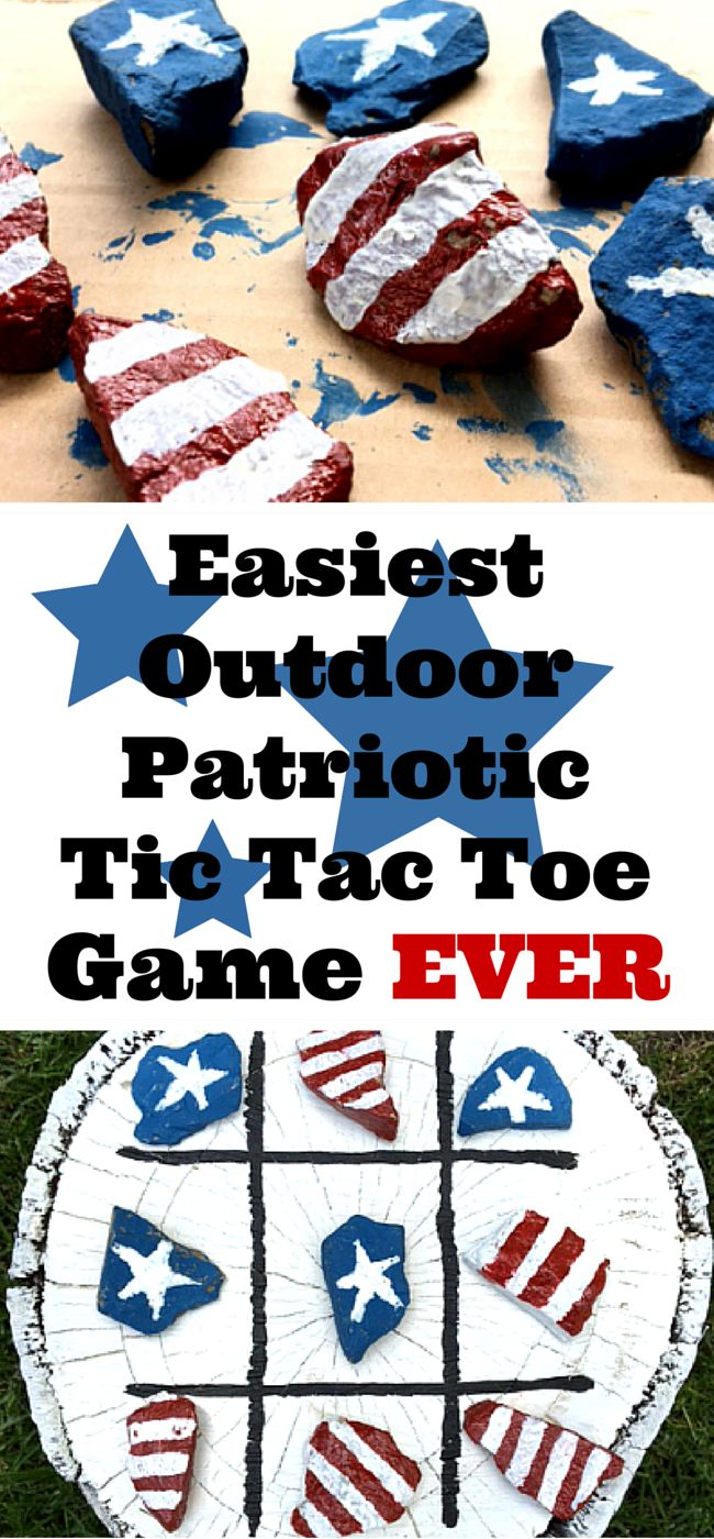 Easiest Outdoor Tic Tac Toe Game Ever - 1915 House