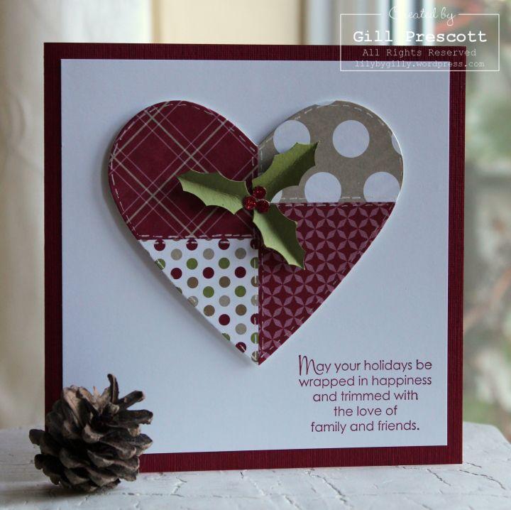Patchwork Christmas heart