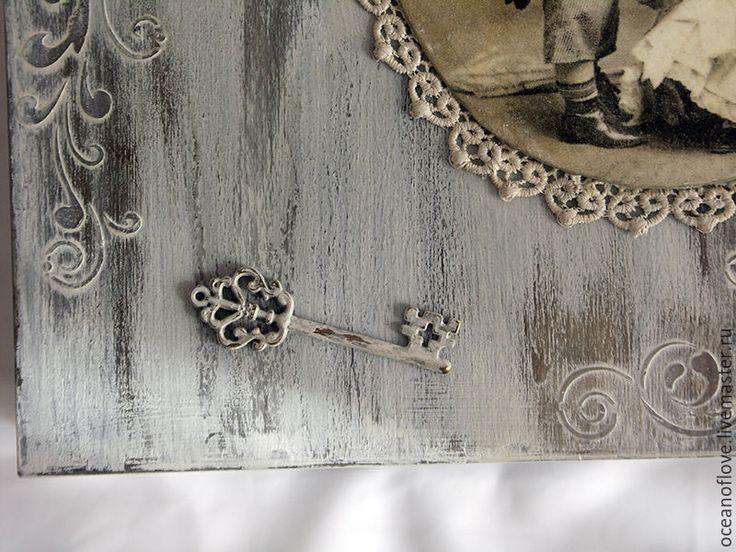 Купить Журнальница Ностальгия - серый, деревянные заготовки, шебби, протравливание древесины, состаренный стиль, потертости