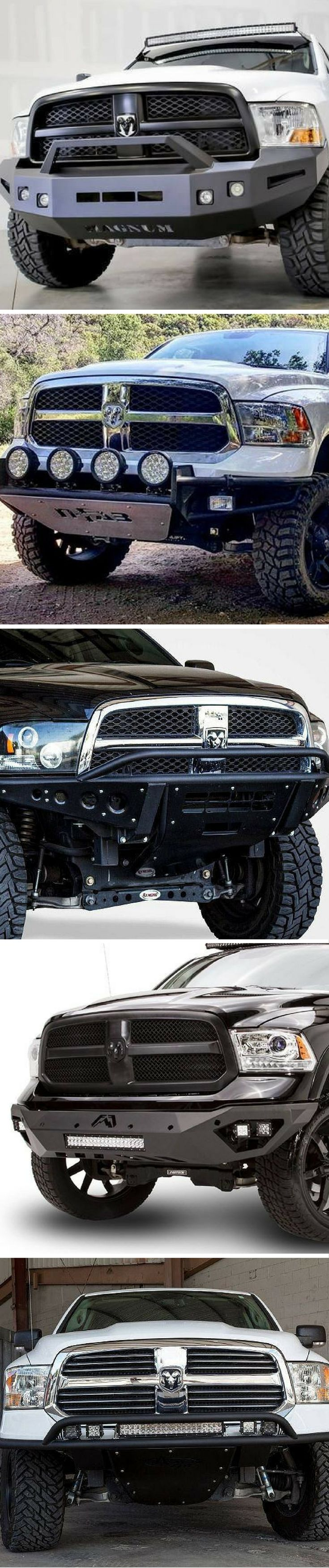 Bad ass aftermarket steel bumpers for 2013 2017 dodge ram 1500
