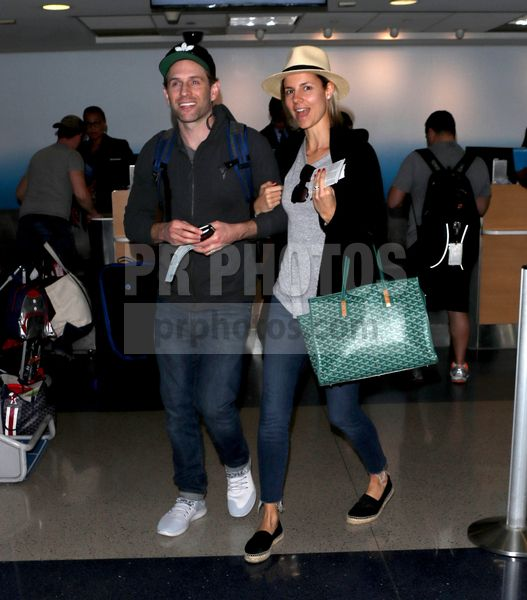 Glenn Howerton and Jill Latiano Sighted at LAX Airport in Los Angeles on February 28 2018