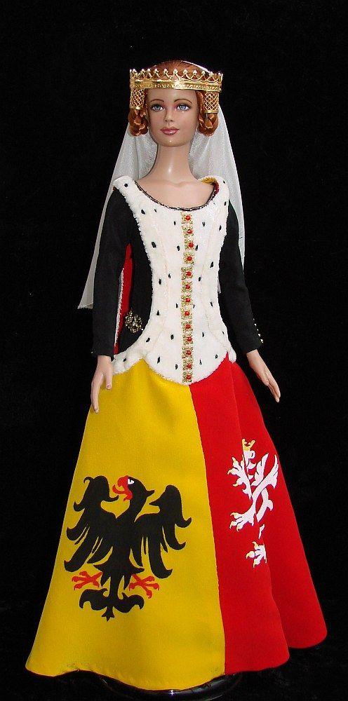 "Středověké šaty pro 16"" panenku  Tyler Wentworth - OOAK"