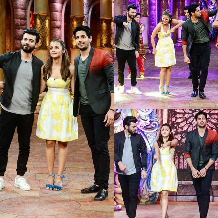 Alia Bhatt Fawad Khan and Sidharth Malhotra are on a roll and yesterday they were clicked