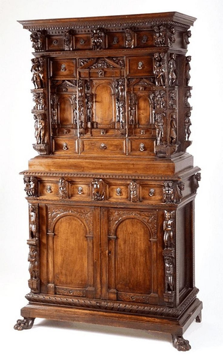 Auction company 751 walnut victorian marble top parlor table ca 1870 - An Italian Carved Walnut Cabinet 19th Century In