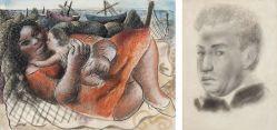 """Autorretrato no verso. Participou da exposição """"Di Cavalcanti, desenhos da década de 30"""", na Galeria Grifo, 1994, reproduzido no livro da mostra na capa e na pág. 45."""