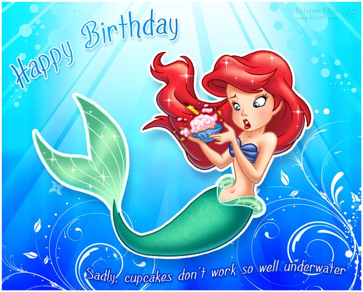 Little Mermaid Birthday Card by Keah on deviantART