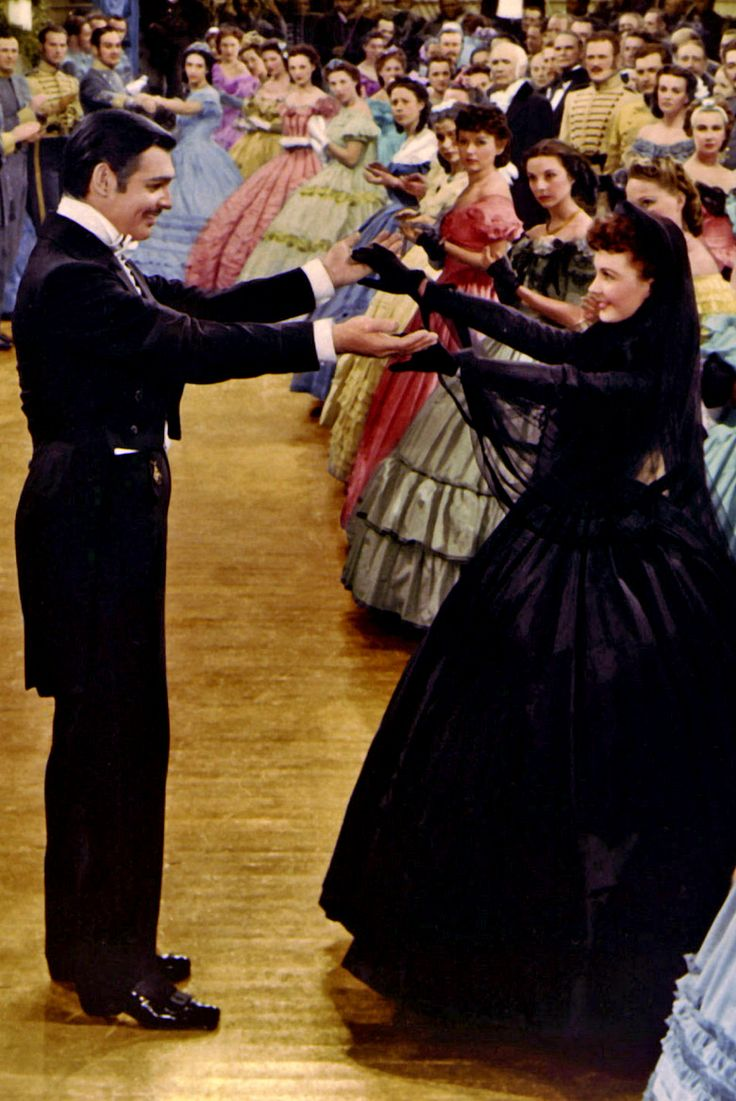 Clark Gable & Vivien Leigh ~ Gone With The Wind - this would have been about 1867 ~