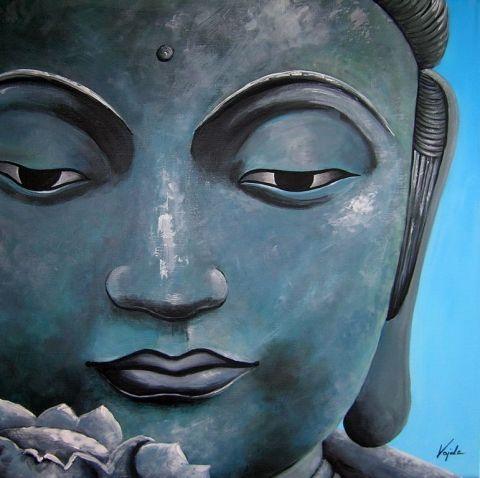 Vajdaaliz - #Buddha - festmény, Képzőművészet , Festmény, #Akril festmény feszített vásznon,  #acrylic