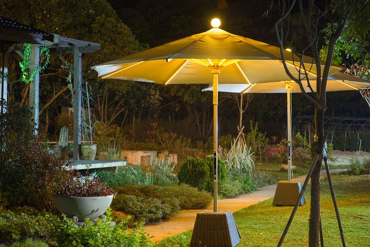 Lighting up the night with our fully lit up #NILEDParasol