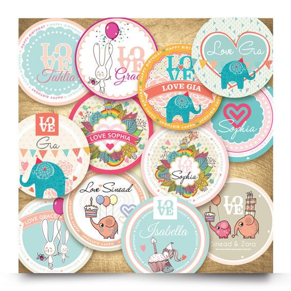 Order your girl personalised girls combo stickers today these stunning and contemporary personalised gift stickers are made up of 12 contemporary designs