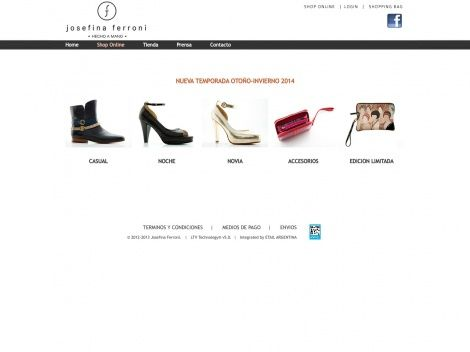 Venta por Internet de la marca de calzado Josefina Ferroni