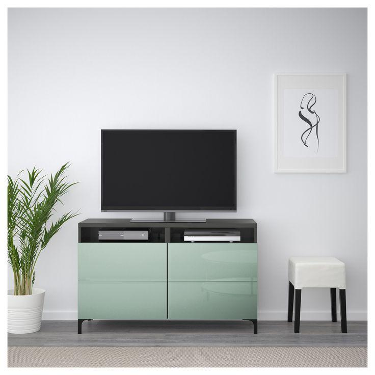 best tv unit with drawers blackbrown selsviken graygreen