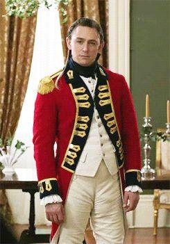 JJ Feild as Major John Andre in AMC's Turn.