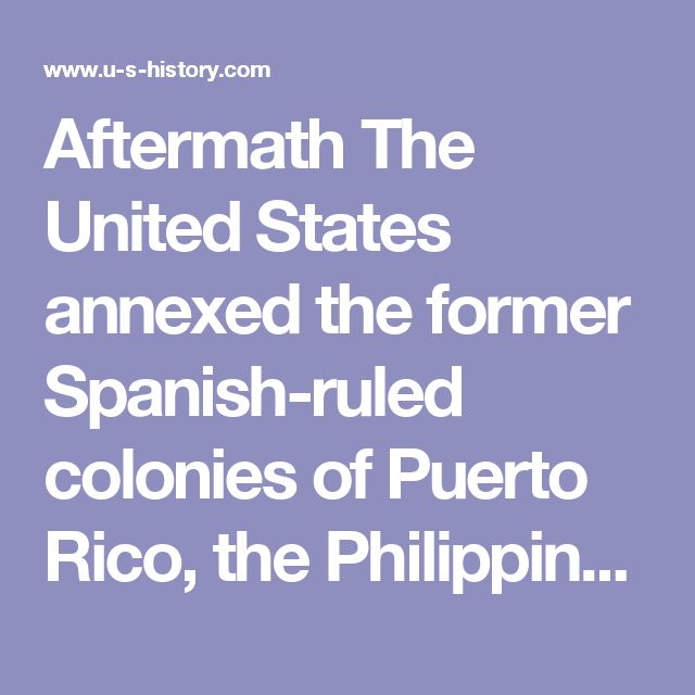 annexed the philippines View should the united states have annexed the philippines from english 100 at batavia high school, batavia dylan mills mr holm american history 4-1-16 should the united states have annexed the.