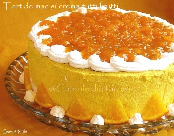 Tort de mac si crema tutti frutti