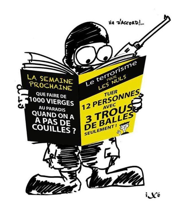 #charliehebdo #satire #parodie #caricature #terrorisme #art #resistance #barbarie