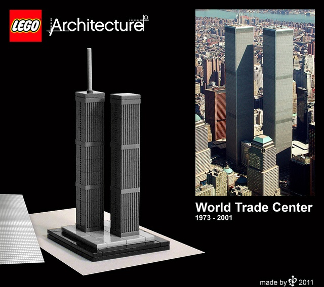 Lego World World Trade Center Ny Buildings Geb Ude