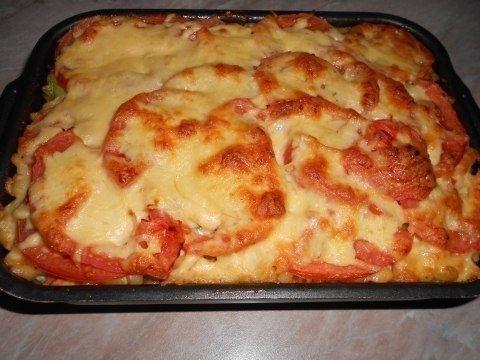 Фото к рецепту: Готовим пикантные макароны в духовке.