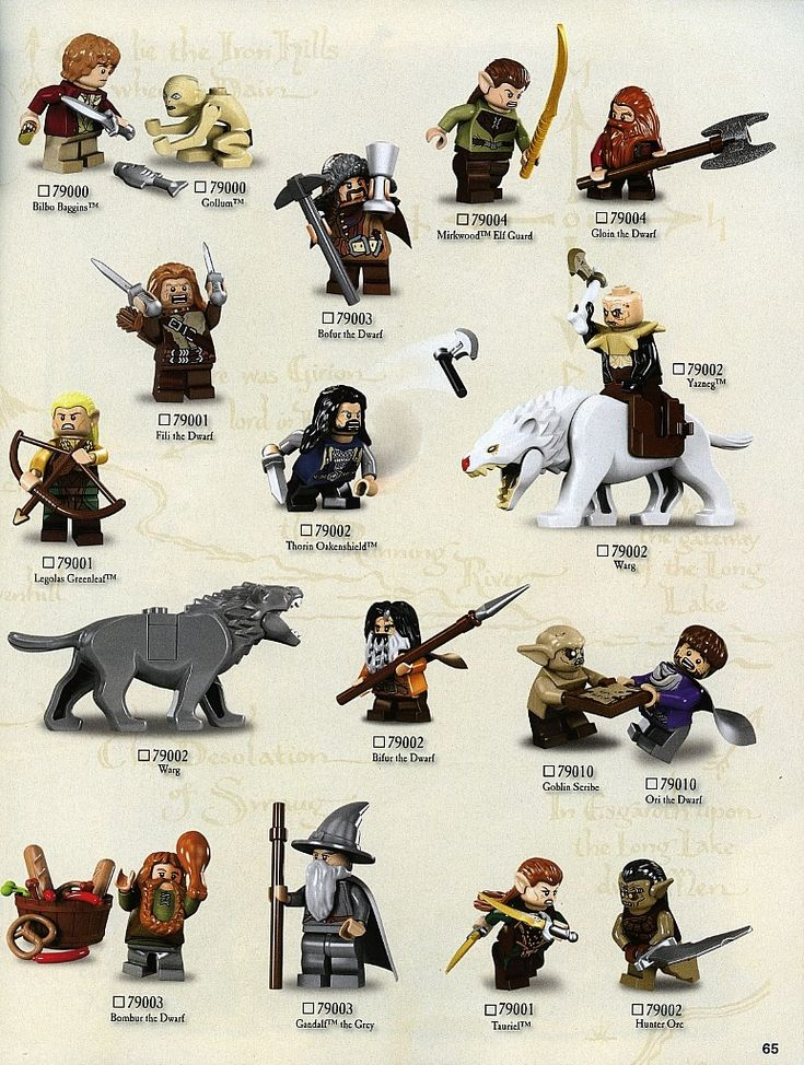 The Hobbit- Lego Characters