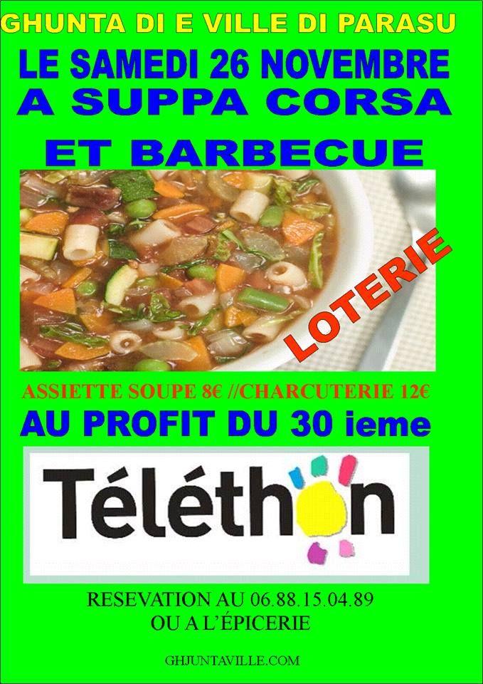 suppa-corsa-et-barbecue-pour-le-telethon Ville Di Parasu Samedi 26 novembre