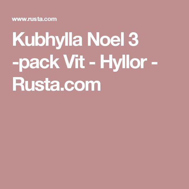 Kubhylla Noel 3 -pack Vit  - Hyllor - Rusta.com