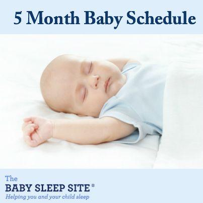 5 Month Old Baby Schedule #baby #sleep #schedules