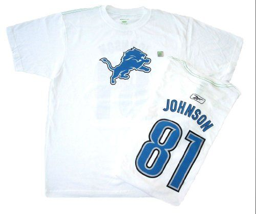 Calvin Johnson Detroit Lions Reebok Organic Cotton Short Sleeve T-shirt X-Large  https://allstarsportsfan.com/product/calvin-johnson-detroit-lions-reebok-organic-cotton-short-sleeve-t-shirt-x-large/  Calvin Johnson Reebok and NFL Licensed / Authentic Product NFL Organic Collection Merchandise White T-shirt