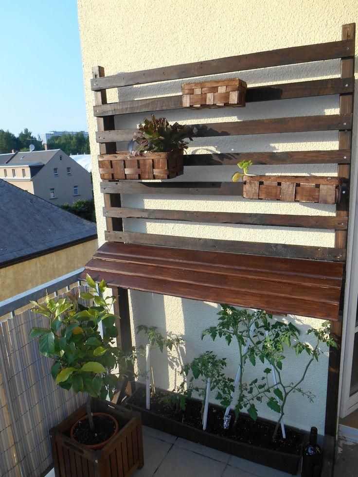 balkonspalier french cleat bauanleitung zum selber bauen bank pinterest. Black Bedroom Furniture Sets. Home Design Ideas
