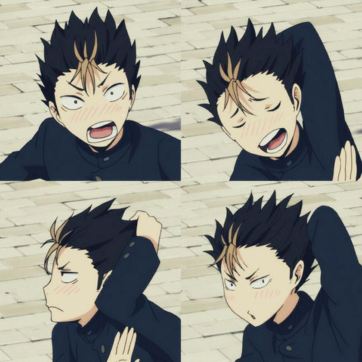 Nishinoya yuu blushing!!! Gwaaa he's so cute!!! ^_^