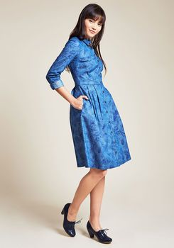 Broadcast Coordinator Shirt Dress in Frond