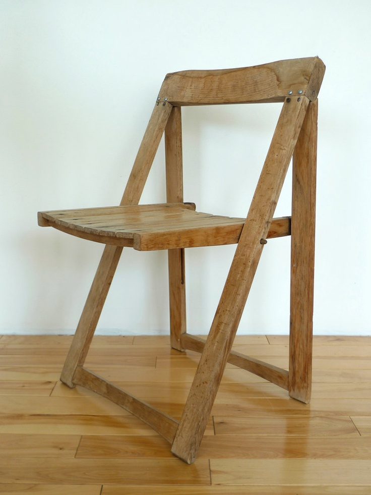 Rustic Flat Folding Chair.