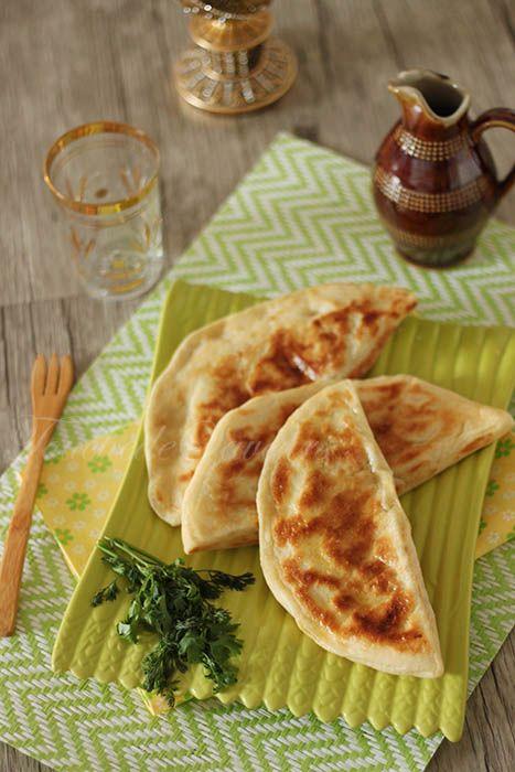 Galettes turques viande poivron aubergine mozzarella