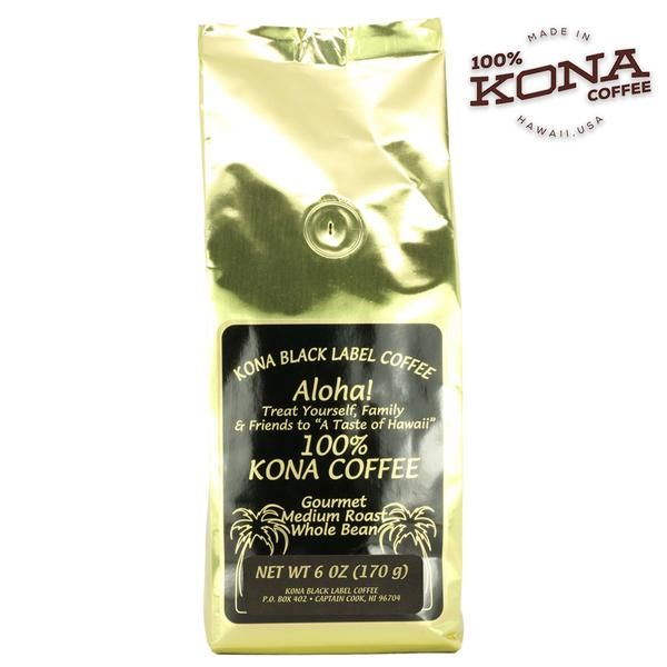 Perfect for any coffee connoisseur. Medium roast whole bean 100% Kona coffee is smooth, well-balanced and handcrafted in small batches on the Big Island of Hawaii. Black Label Kona Coffee promotes sustainable farming and harvesting techniques.