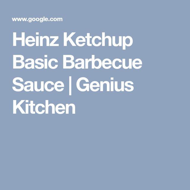Heinz Ketchup Basic Barbecue Sauce | Genius Kitchen