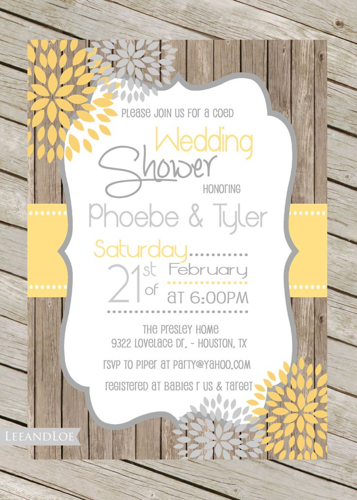 Superieur Wedding Shower Invitations Make Your Own   Wedding Invitation Sample