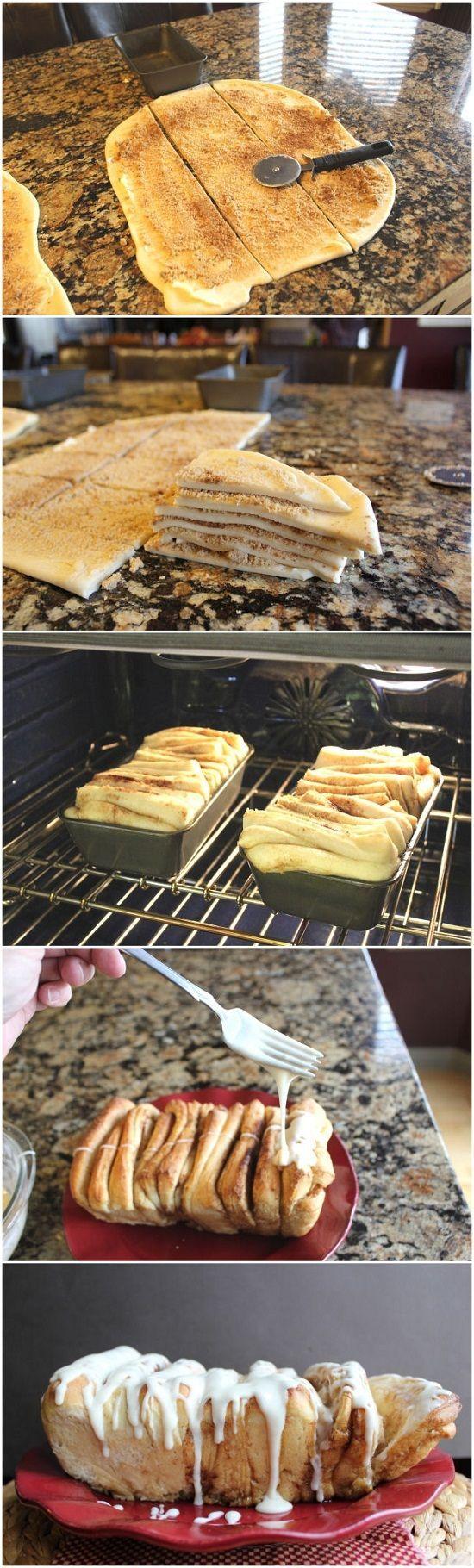 Cinnamon Pull Apart Bread I'd like to make this with orange cinnamon instead.