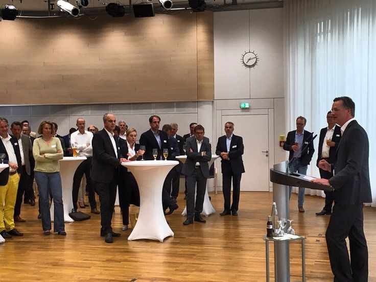 """""""#Emobility or autonomous driving – what comes next? Both, there is no priority list."""" Marcus Berret, Global Head of our Competence Center #Automotive, talks about the development of the automotive industry in front of #German business journalists during their annual summer celebration in #Munich"""