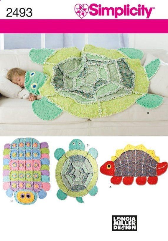 Rag Quilt Patterns Free   ... Childrens Rag Quilt Patterns Dinosaur Turtle Caterpillar Free Ship